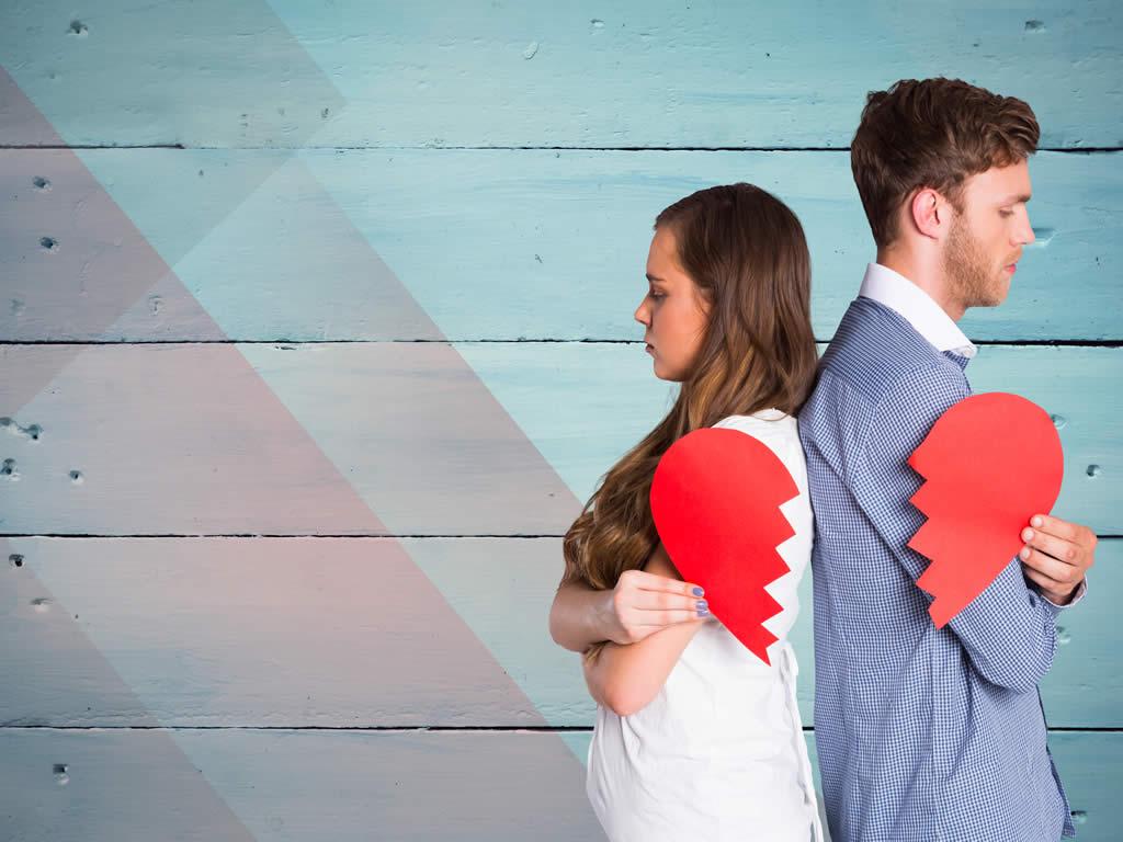Paar mit Trennungs Herz
