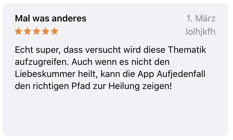 Positive Bewertung AppStore